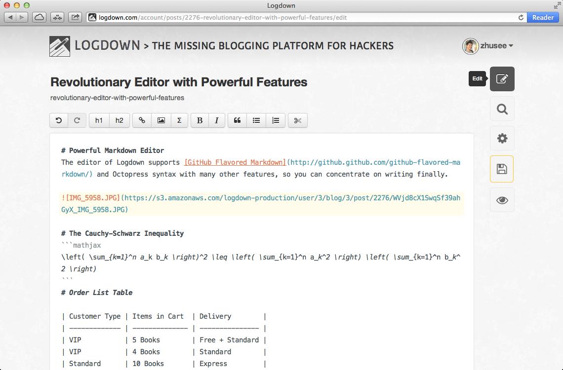Img logdown editor